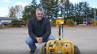 Sir-Lines-A-Lot using TinySurveyor robot for stake-out, surveying and pre-marking