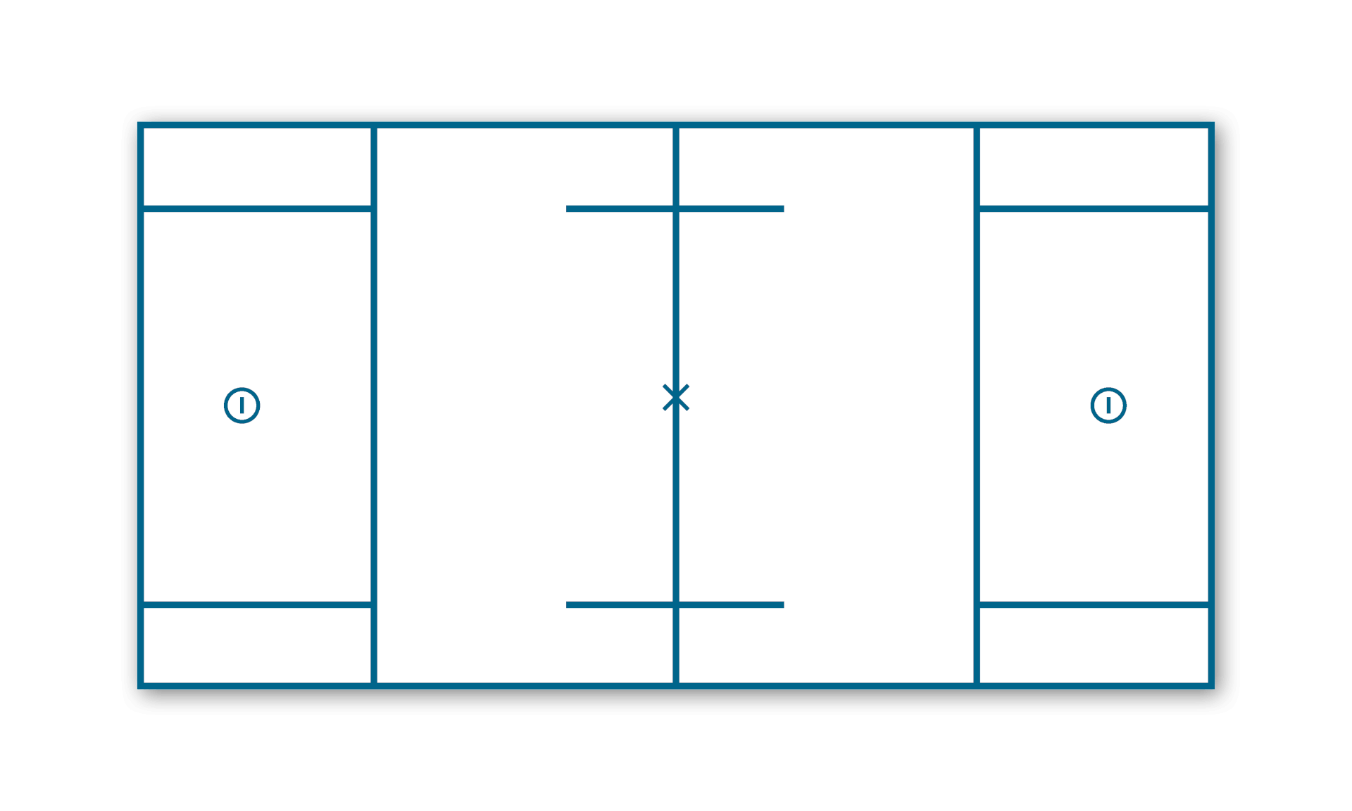 Example of men's lacrosse pitch layout with automatic line marking