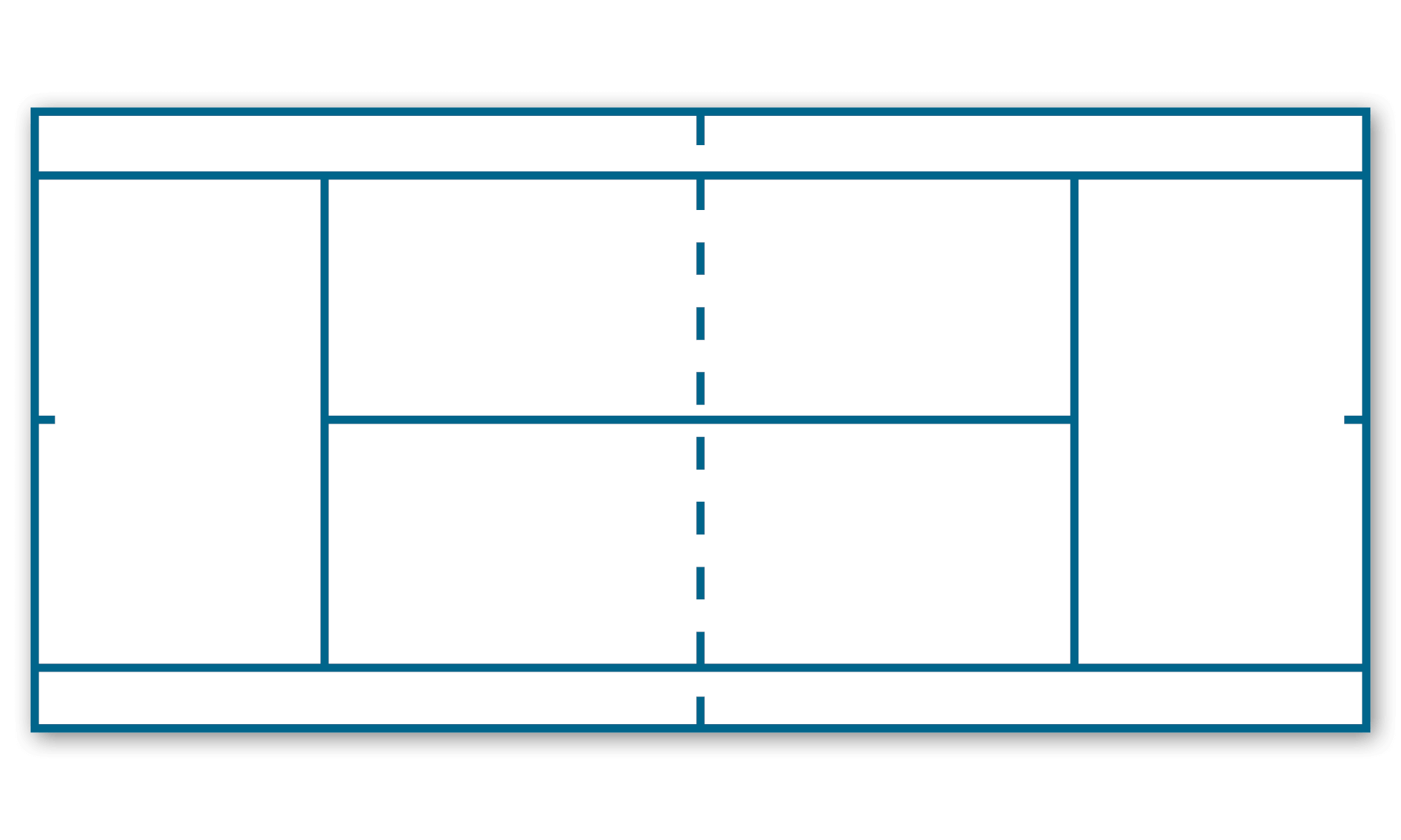 Example of tennis court layout with automatic line marking