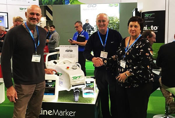 Medway Norse congratulated by Rigby Taylor at Saltex 2018