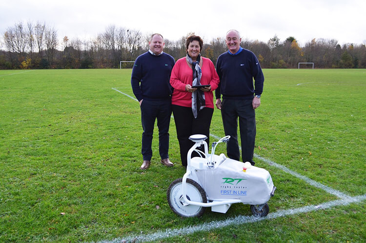 Medway Norse (UK) using TinyLineMarker for automated sports line marking