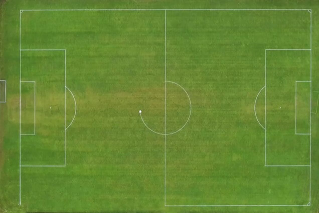 Autonomous sports line marking robot TinyLineMarker marking soccer pitch in less than 20 min