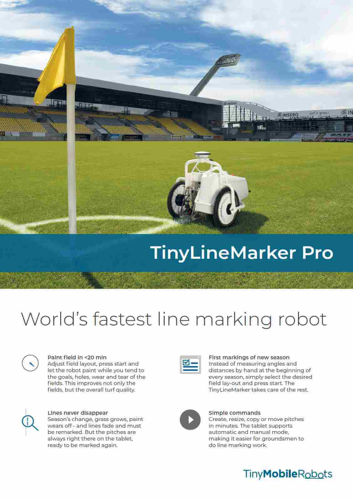 TinyLineMarker Pro flyer 2 pages