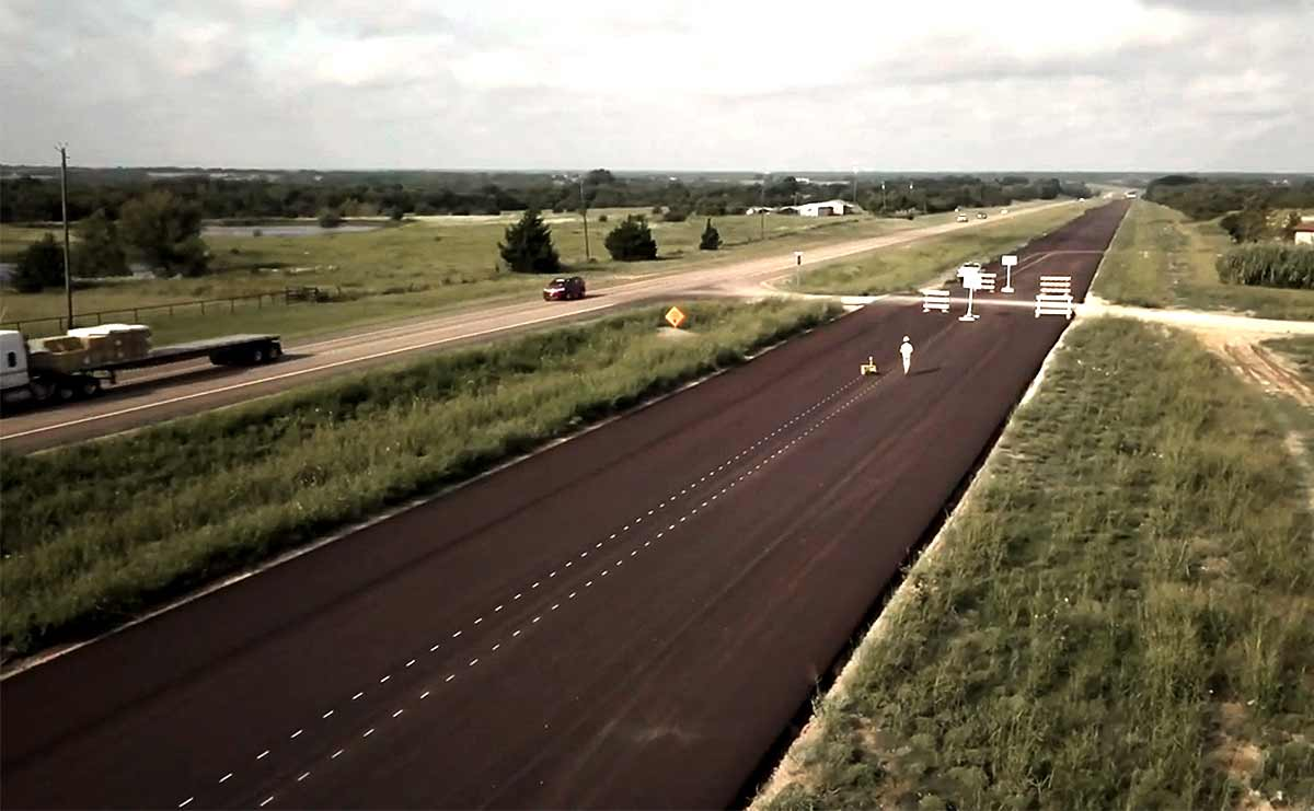 Road construction and road marking